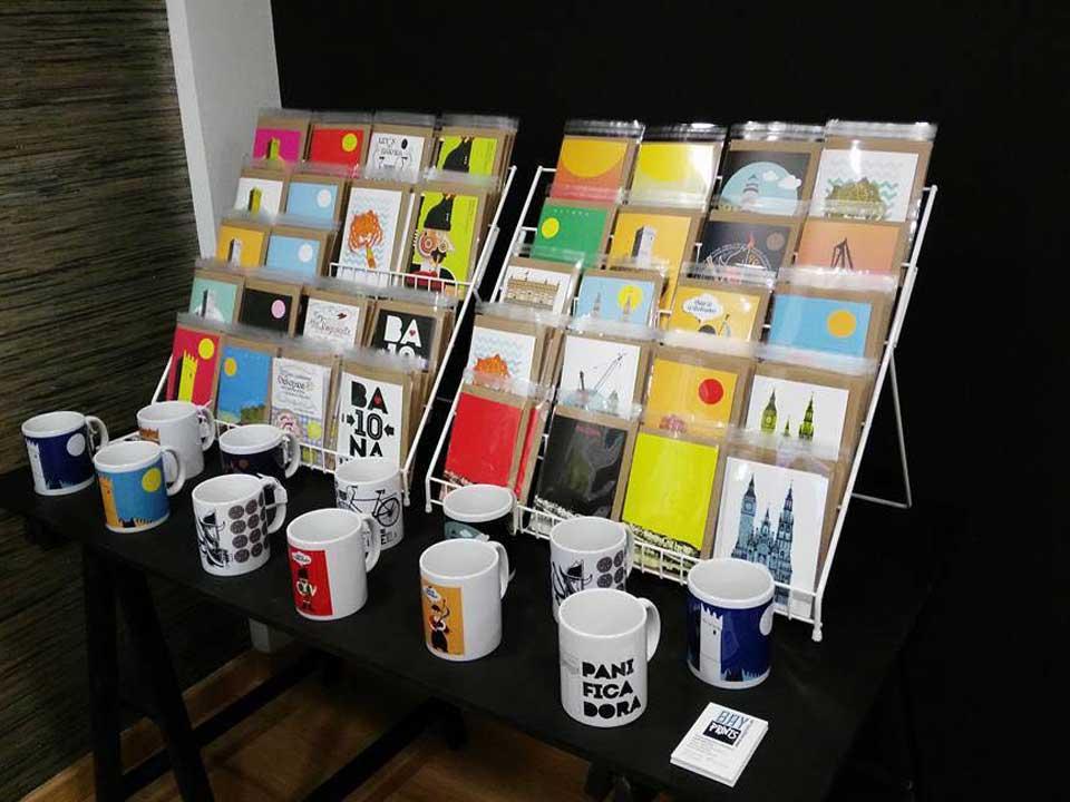 Bayprints Baiona, Tarjetas y tazas, diseños exclusivos de Tirso.
