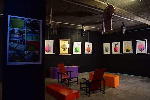 Bayprints Baiona, Exposición serigrafías Aula D. Autor: Tirso Sánchez Otaegui.