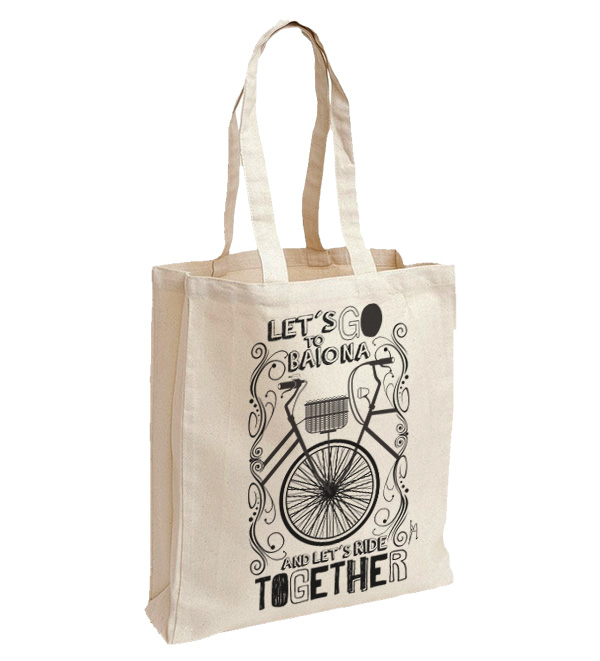 Bayprints bolsa de tela, Let´s go to Baiona and let´s ride together