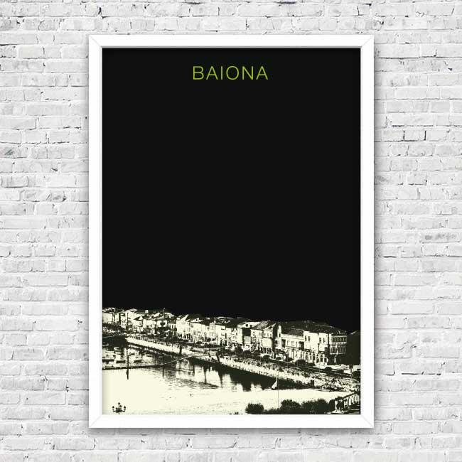 Bayprints Baiona, Baiona Parador de Baiona, fotografía y diseño original de Tirso Sánchez Otaegui
