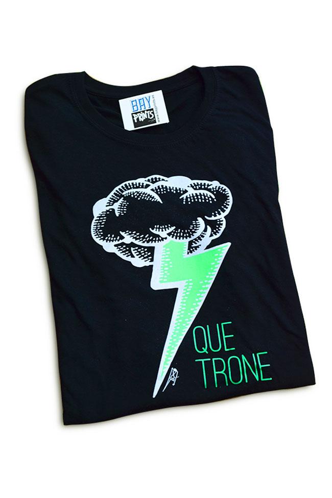 Camiseta 100% agodon diseño fluorescente. Diseño de Tirso Sánchez Otaegui