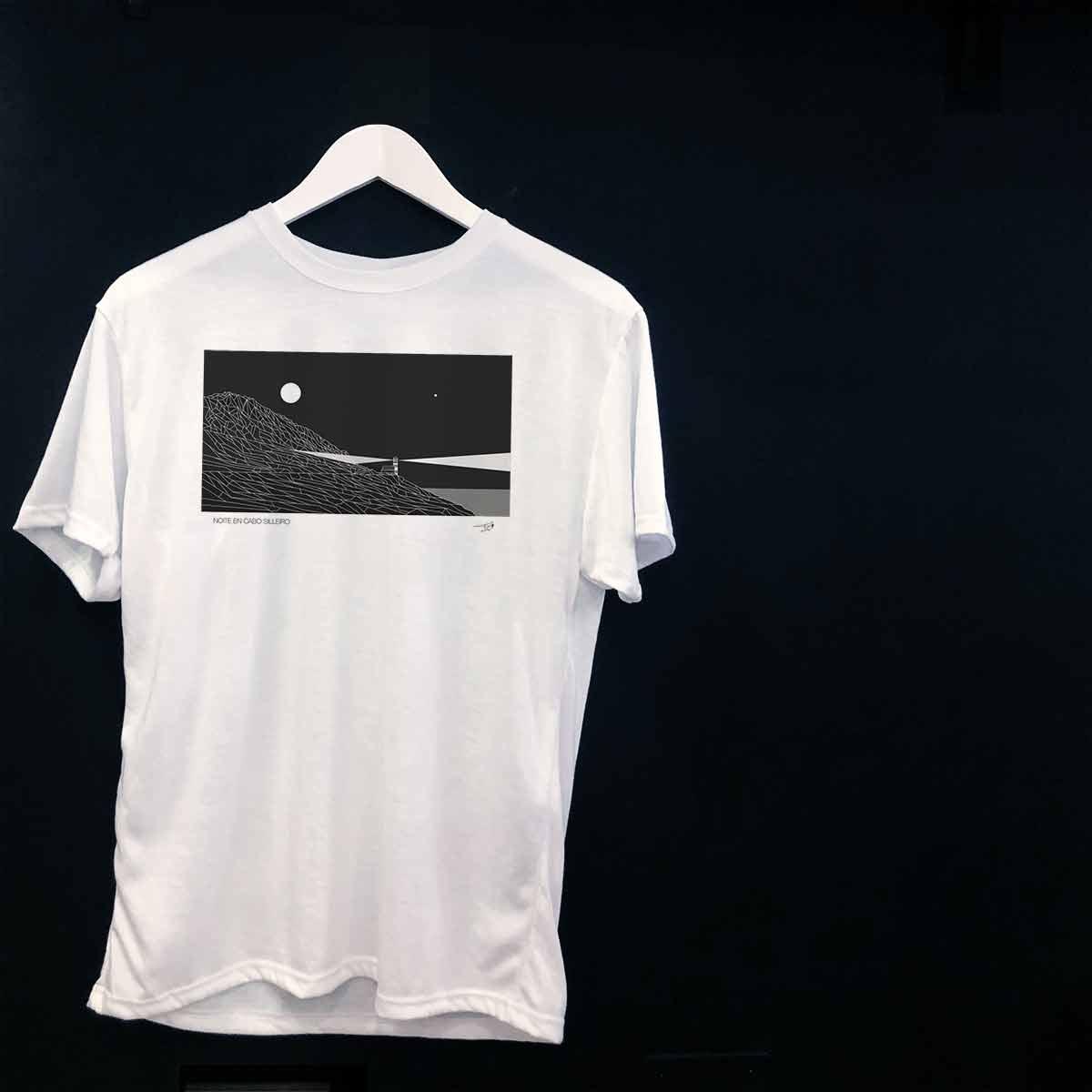Faro de Cabo Silleiro Oia camisetas baiona camisetas personalizadas tienda souvenirs creativos singulares originales en Baiona Bayprints