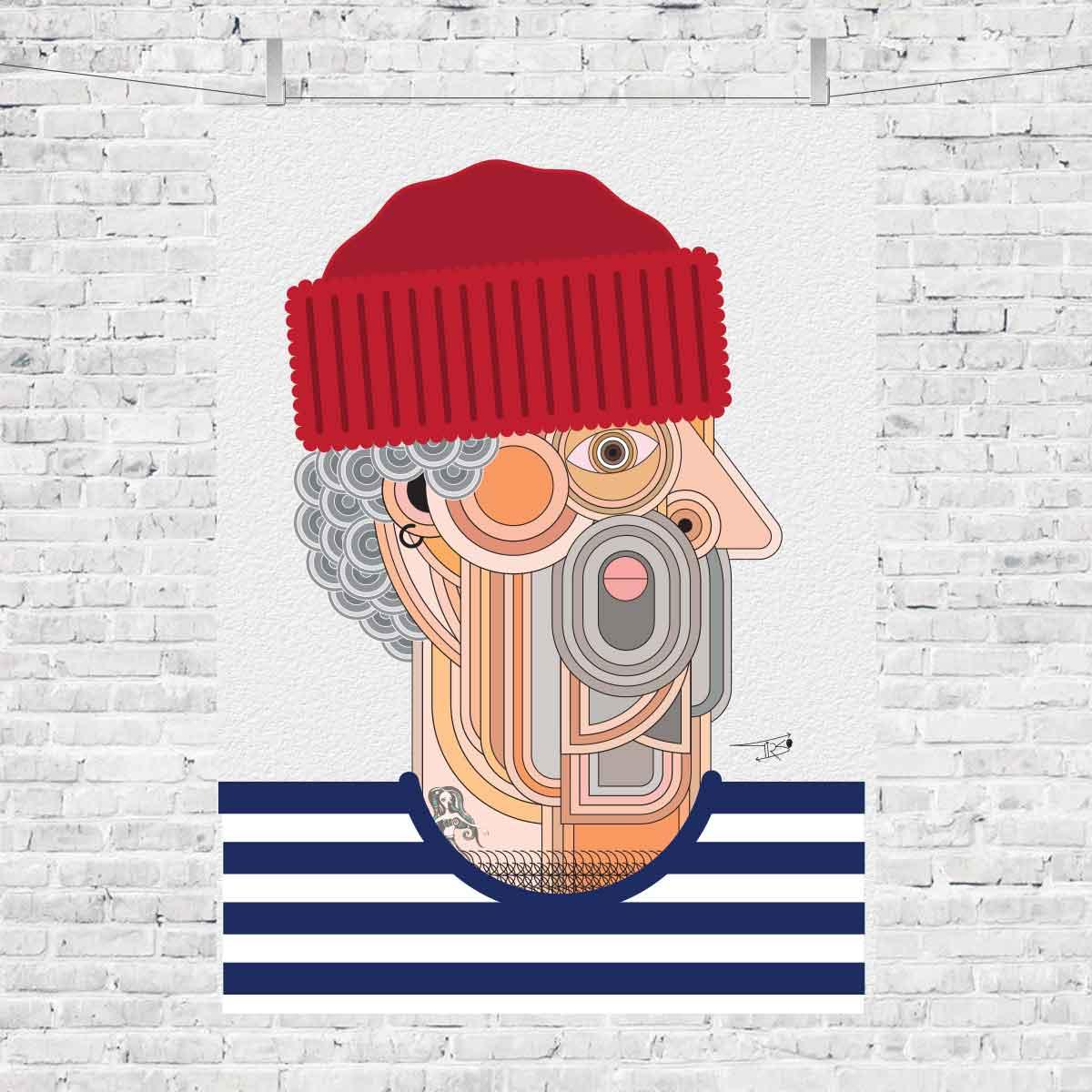o_mariñeiro_salgado_que_mira_de_medio_lado_bayprints_souvinir_shop_tienda_souvenirs_baiona_souvenart_shop_diseño_tirso_sanchez_otaegui