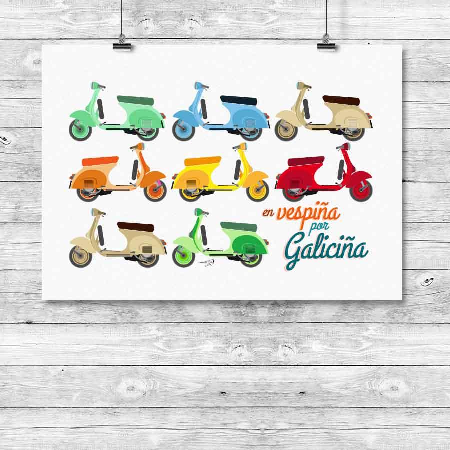 camiseta vespa bayprints Baiona Bahia Baiona Baiona Pontevedra camisetas baiona camisetas personalizadas tienda souvenirs creativos singulares originales en Baiona Bayprints