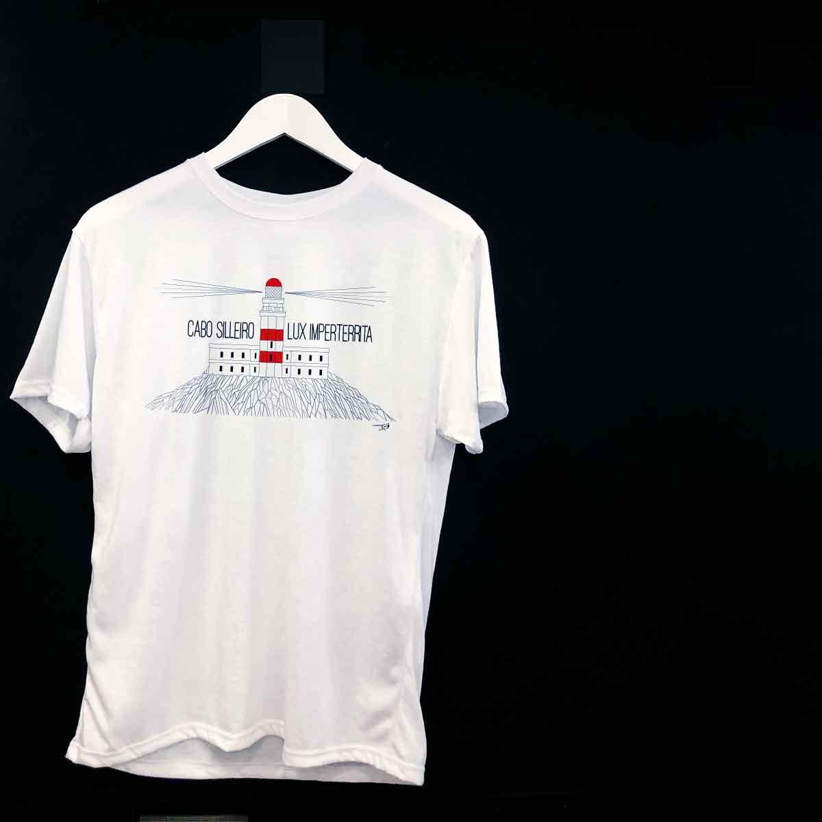 camiseta cabo silleiro oia baiona bayprints tienda souvenirs creativos singulares exclusivos faros de galicia ruta de los faros de galicia
