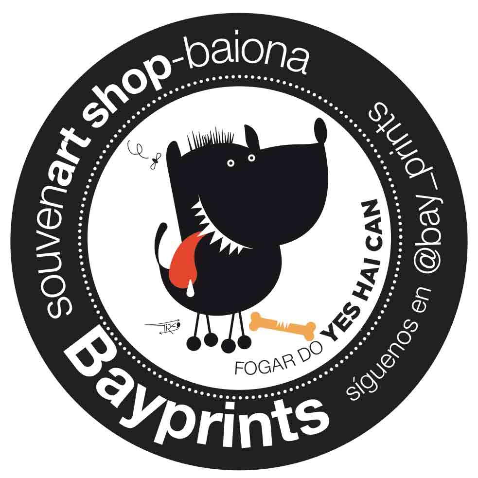 yes hai can yes i can tienda souvenir shop souvenart shop baiona tienda sudaderas laminas camisetas serigrafias en Baiona Bayprints diseños creatrivos singulares diseño galego
