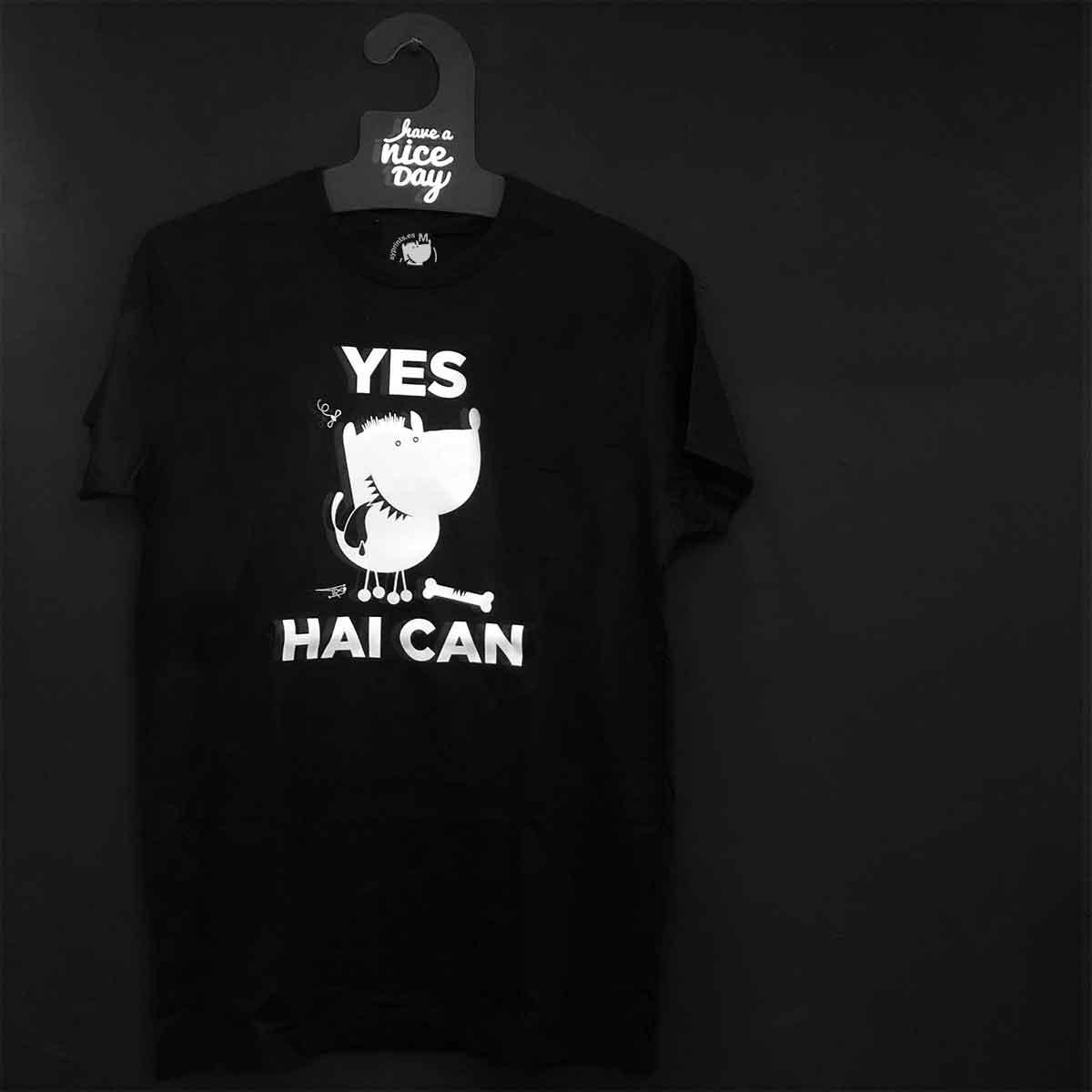 camiseta Yes Hai Can online baiona sudadera Yes I Can bayprints baiona souvenir shop tienda souvenirs creativos singulares exclusivos baiona galicia