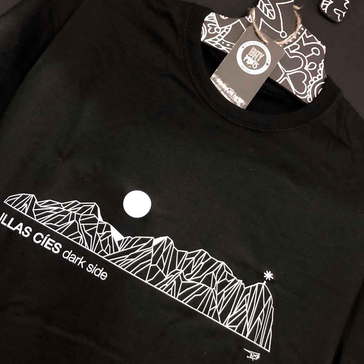 illas cies dark side lado oscuro camiseta illas cies islas cies cies islands tshirt camiseta cies online bayprints baiona souvenirs creativos singulares exclusivos